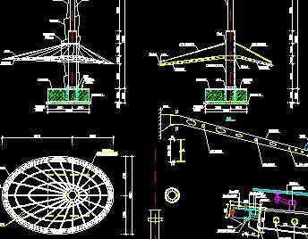椭圆形钢结构顶棚设计图