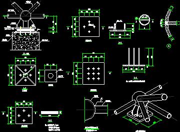 网架橡胶支座节点图免费下载 - 钢结构 - 土木工程网