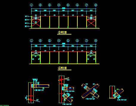 门式钢屋架结构厂房施工图纸