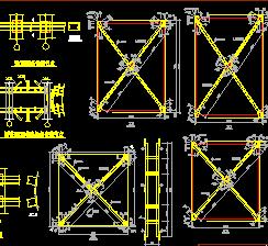某发电厂61M跨煤棚设计图纸