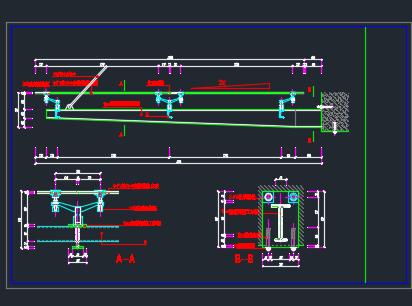 某车道钢结构入口施工图