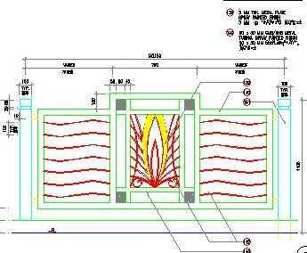 围墙栏杆样式施工图