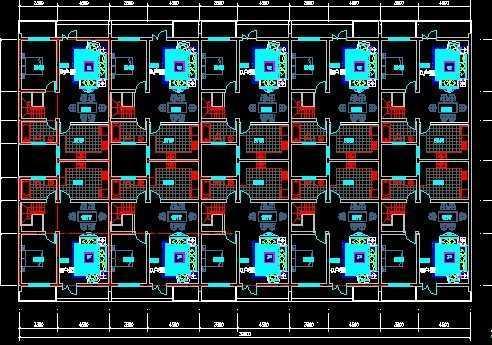 徽派联排别墅施工图免费下载 - 建筑户型平面图