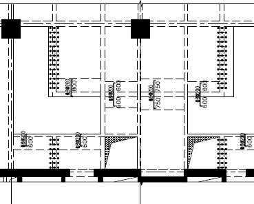 某广场二层楼板开洞增设钢楼梯加固设计图