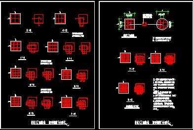 某芯柱xz配筋构造及矩形箍筋复合形式节点构造详图
