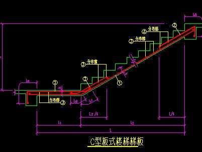某板式楼梯梯板节点构造详图