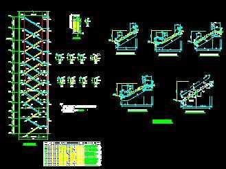 某板式楼梯节点构造详图