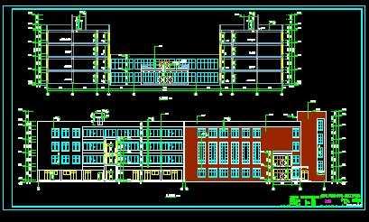 建筑工程系实训楼施工图纸