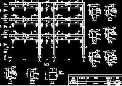 单榀框架结构施工图