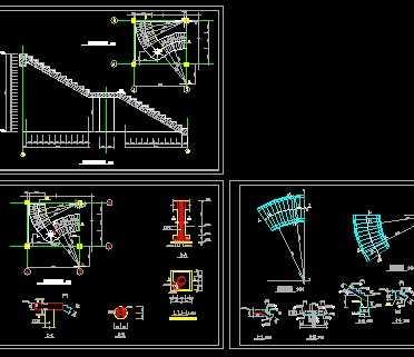 钢筋砼螺旋楼梯结构图免费下载 钢结构