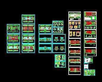 某四层办公楼结构框架设计图免费下载沈阳室内设计排名图片
