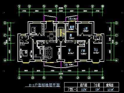 住宅户型建筑平面图纸