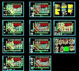 某四层混凝土结构结构办公楼框架设计图v结构夹具装图片