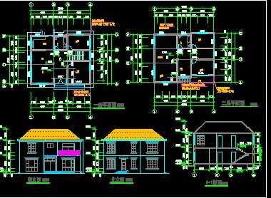 某两层砖混别墅结构设计图图片