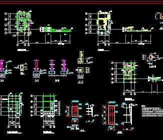 某砖混结构门卫室施工图