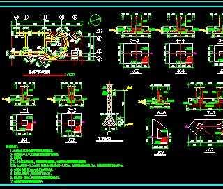 某单位大门建筑结构施工图