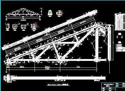 21米芬克式钢屋架设计图免费下载