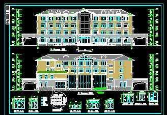 四层办公楼建筑施工图免费下载-节图纸银川有哪些建筑设计院图片