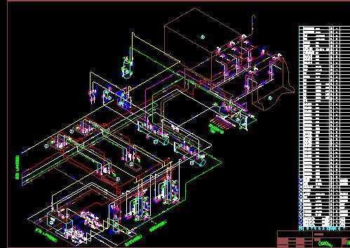 大型冷库氨系统图