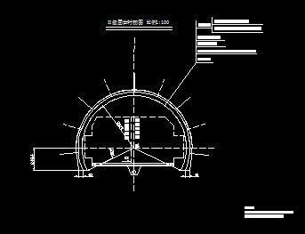 分离式单向行驶两车道隧道毕业设计(计算书,图纸)