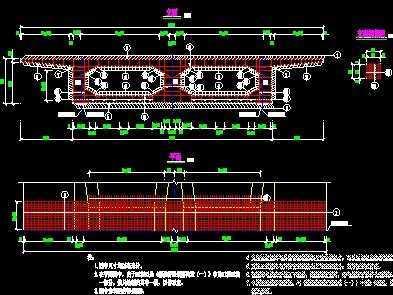 三跨连续路桥毕业设计图片免费下载-梁桥图纸cad如何隧洞图纸修改导入的图片