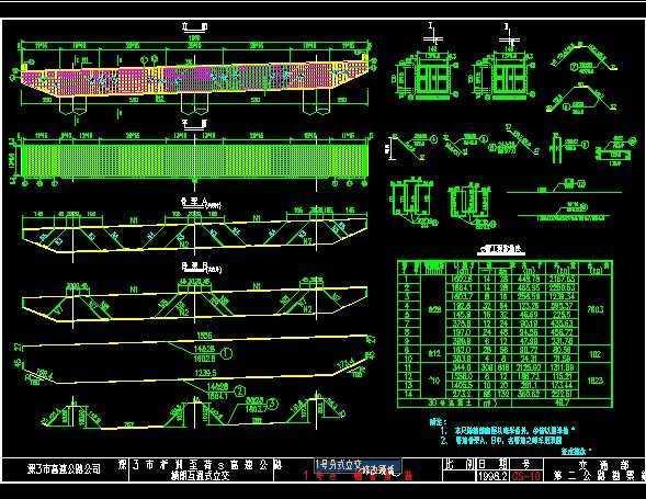 图纸跨线复杂框图桥梁免费下载-路桥套图cad右下市政脚大格式图纸图片