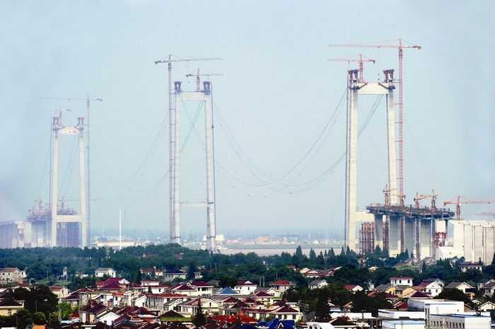 大桥起自泰兴市宣堡镇西