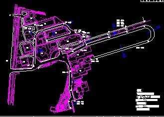 某道路图纸v道路工程平面图免费下载-公路图纸柴油机学院微型图片