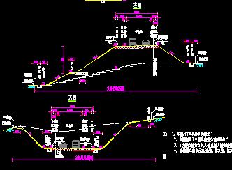 路基标准横断面图_一般通用路基标准横断面设计图纸设计cad图