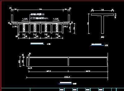 桥梁上部结构图,钢筋图