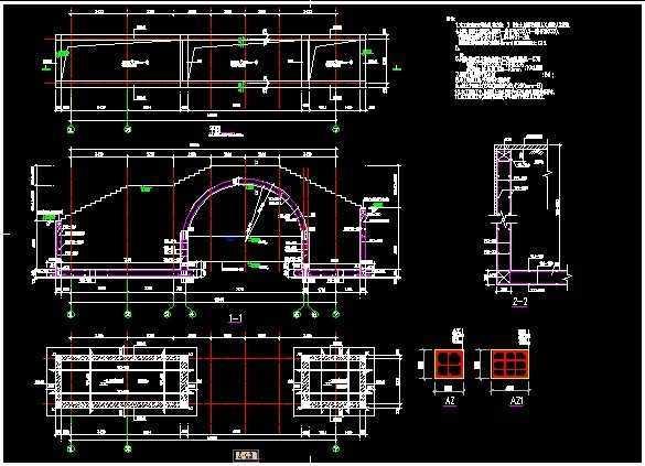 拱桥结构设计图纸免费下载 桥梁图纸