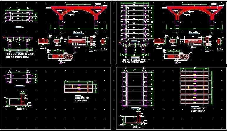 拱桥结构图纸免费下载 桥梁图纸
