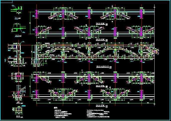 28米跨钢结构图纸图纸免费下载小吃车v图纸冷面桁架烤图片