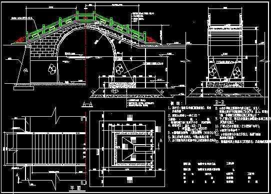 古典拱桥的结构全套设计图纸