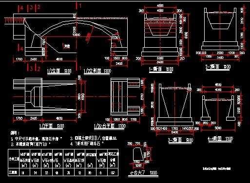 石拱桥结构施工图免费下载