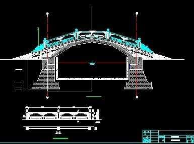 某单拱桥设计图免费下载