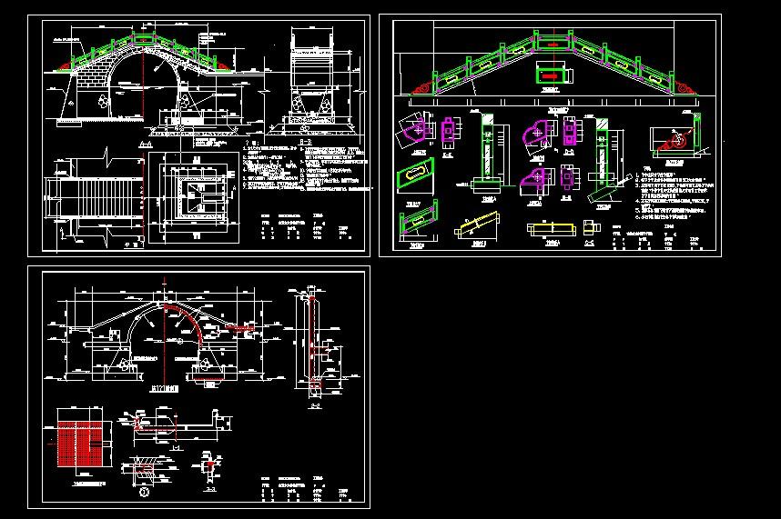 古典拱桥的结构设计图纸免费下载 桥梁图纸