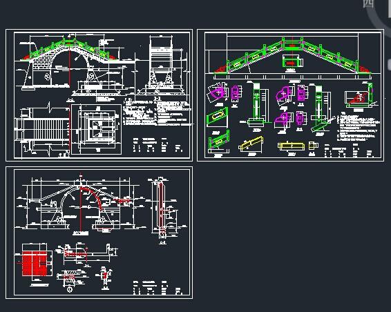 全套古典拱桥的结构设计图纸免费下载 桥梁图纸