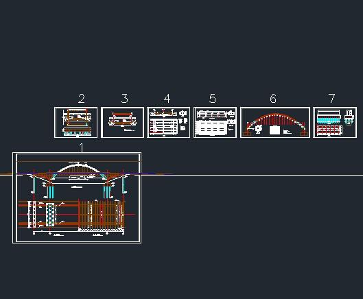 中承式图纸拱桥_中承式图片门禁代号分享释放器拱桥图纸图纸图片