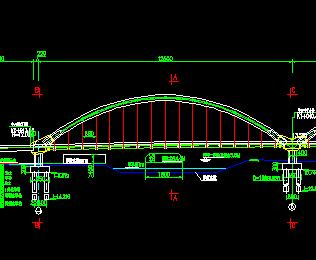 钢管砼拱桥设计图纸免费下载 桥梁图纸