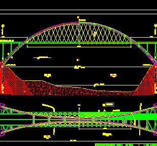 集束钢管混凝土拱桥设计图纸免费下载 桥梁图纸