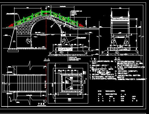 古典拱桥结构设计图纸免费下载 桥梁图纸