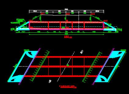 2孔6x4m箱涵结构设计图纸