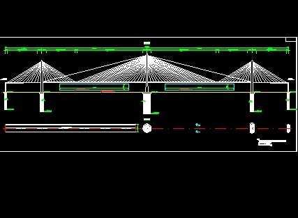斜拉桥立面结构图免费下载