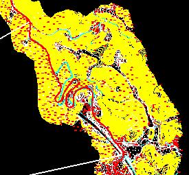 公路选线地形图