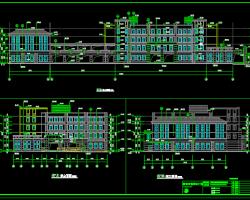 四层学校教学楼建筑施工图纸(含水电暖、建筑结构图)