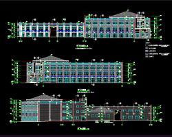 三层框架结构商业楼全套施工图纸(含建筑结构水电)