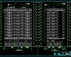 十二层住宅楼建筑施工图(含水电、结构)