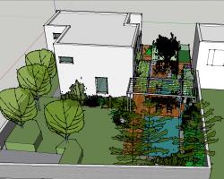 现代别墅庭院SketchUp模型