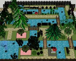 大型庭院景观SketchUp模型